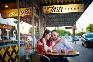 lauren and kasey engagement photo bakery
